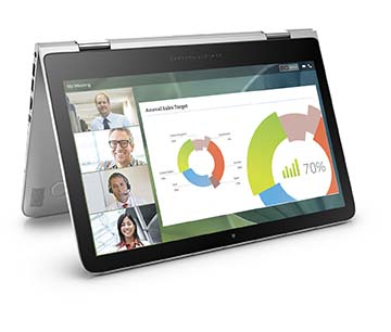 HP Spectre x360 Convertible PC, Right facing, Media mode